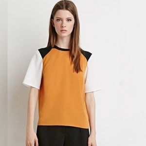 Forever 21 color block top size small